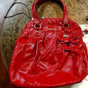 COACH Poppy Red Patent Leather Bag